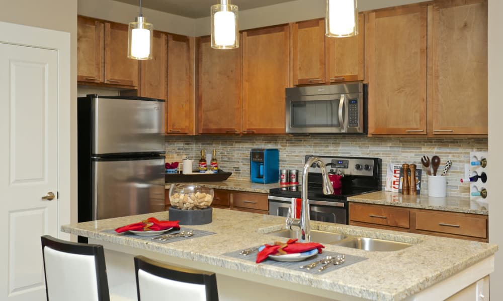 Modern kitchen at Grand Reserve Katy in Katy, Texas