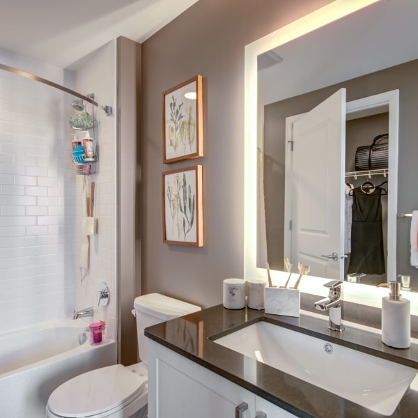 Bathroom with a closet at Harlow in Washington, District of Columbia