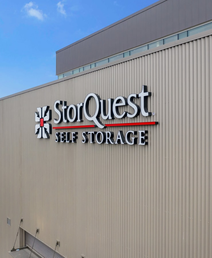 Branding and signage at StorQuest Self Storage in Los Angeles, California
