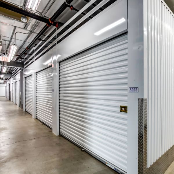 Indoor storage units at StorQuest Self Storage in La Quinta, California