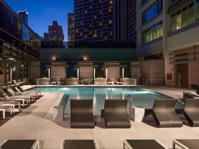 Resort style pool at Altitude in Atlanta, GA