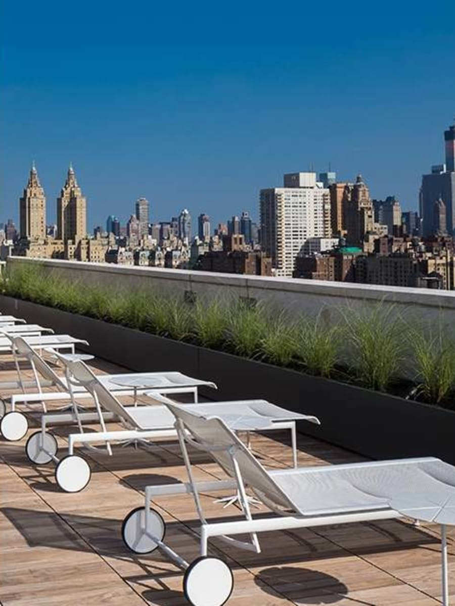 Rooftop lounge chairs at The Larstrand in New York, New York