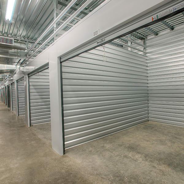 An open, large storage unit at StorQuest Self Storage in Waipahu, Hawaii