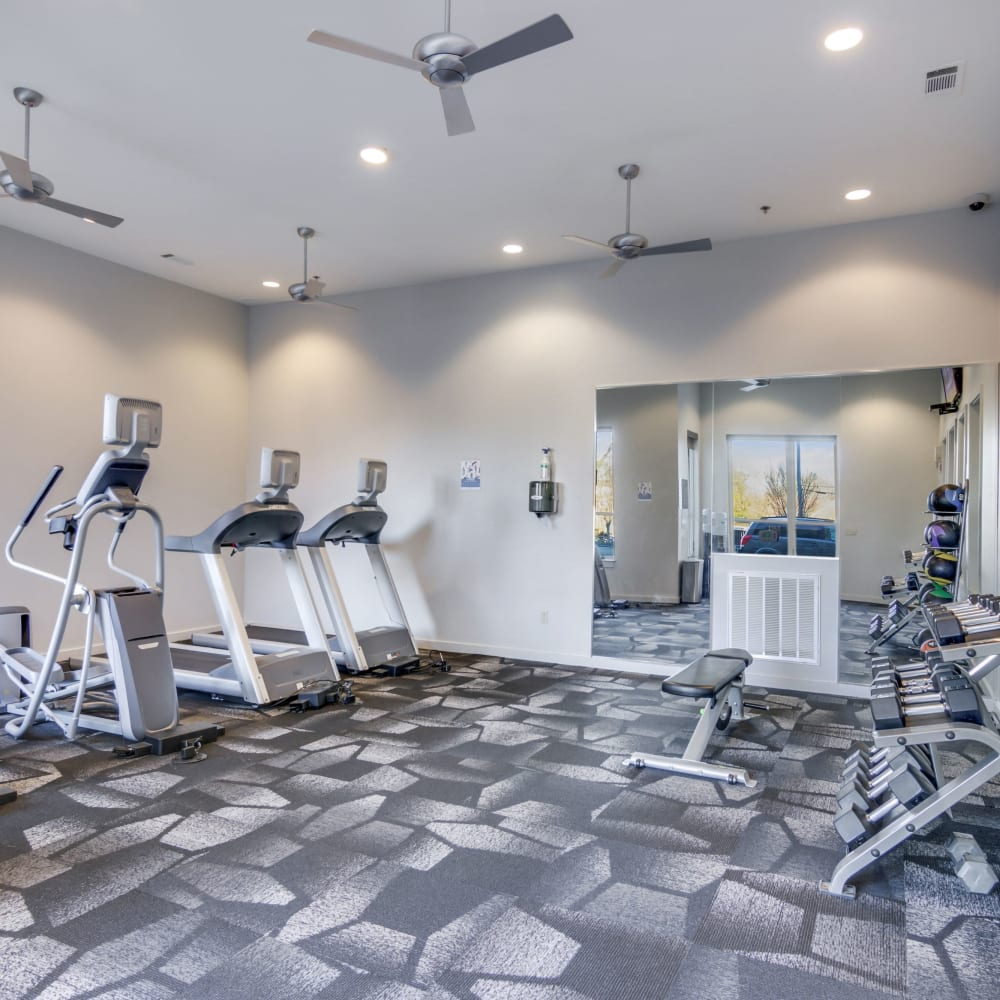 Fitness center at 12 South Apartments in Nashville, Tennessee