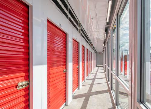 Interior units facing a window at StorQuest Self Storage in Vista, California