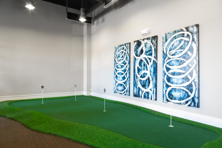 new apartments with golf simulator