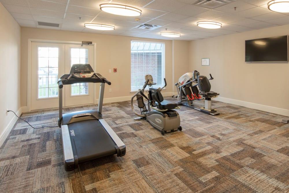Fitness room at Harmony at Wescott in Summerville, South Carolina