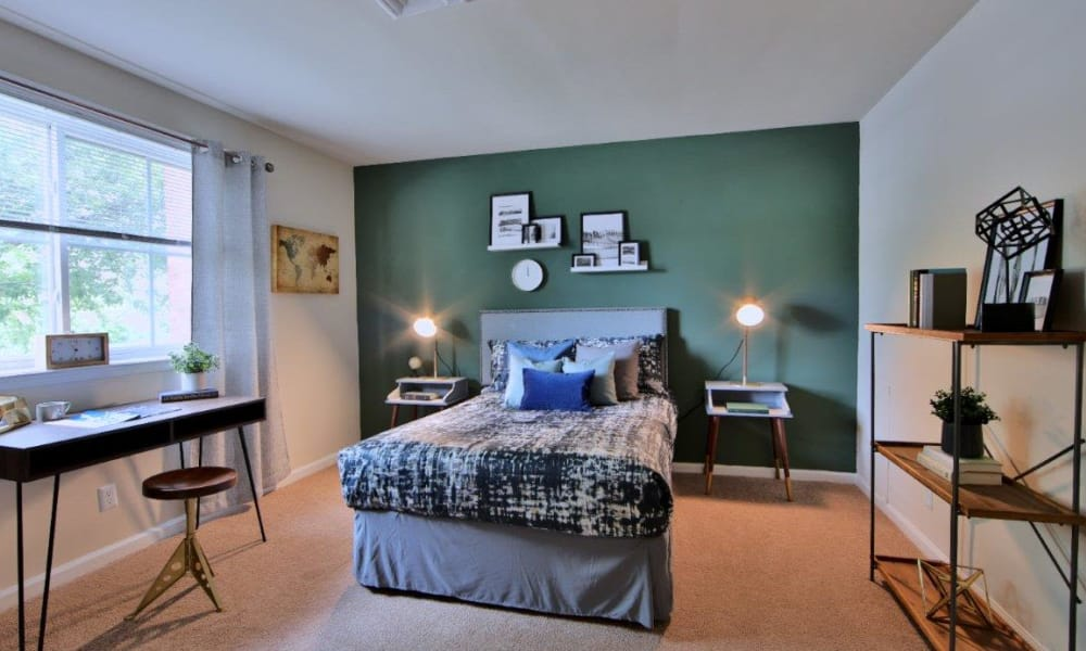 Bedroom at Willow Run at Mark Center Apartment Homes in Alexandria, VA