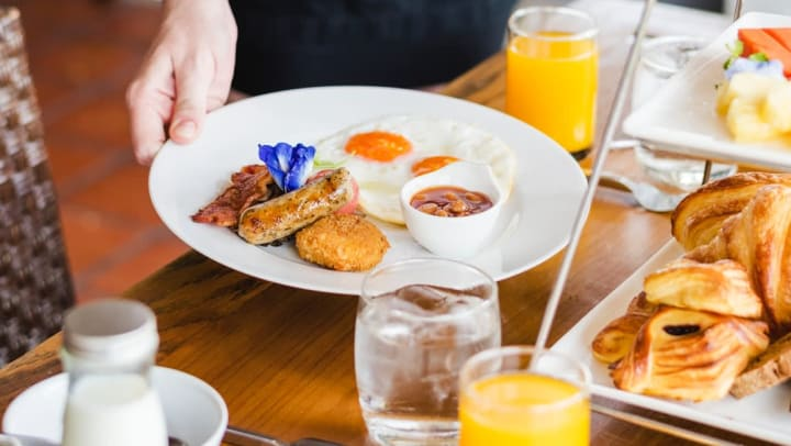 Breakfast plate from restaurant near Odyssey Lake in Brunswick, Georgia