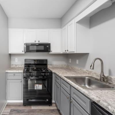 Model kitchen of Hidden Acres East in Columbus, Ohio