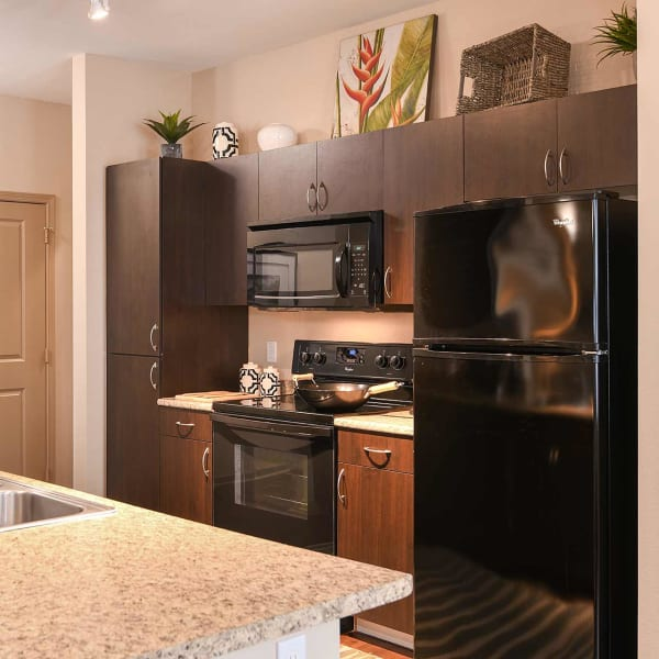 Model kitchen at Terraces at Town Center in Jacksonville, Florida
