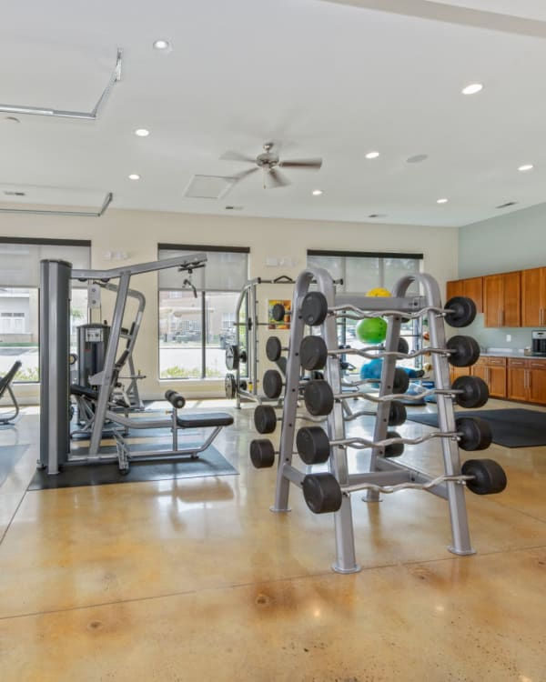 Fitness center at Morehead West in Charlotte, North Carolina
