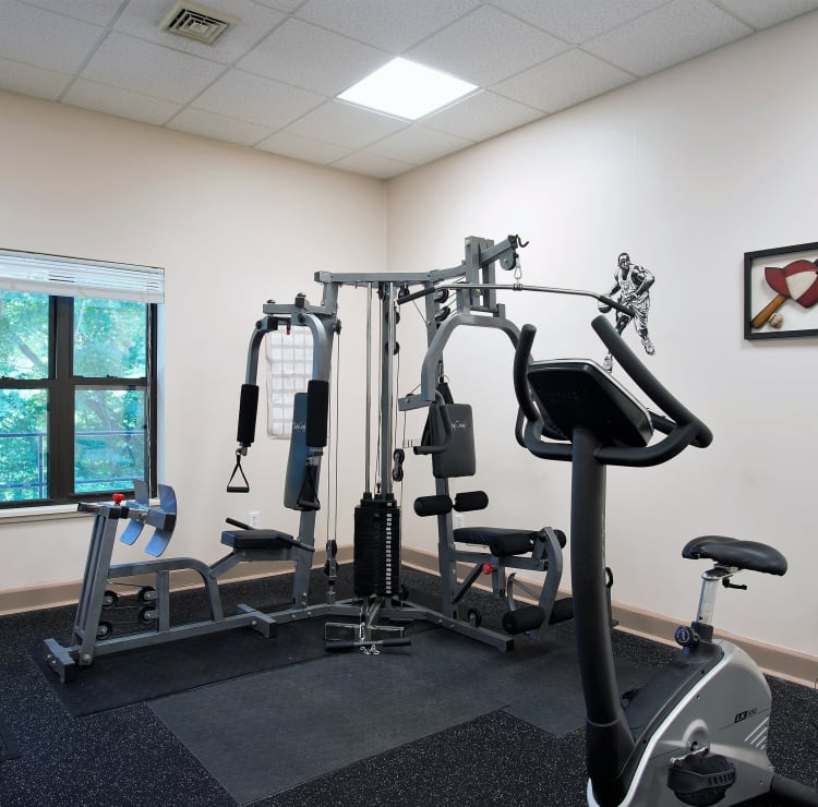 Mill Creek Apartments offers a fitness center in East Greenbush, NY