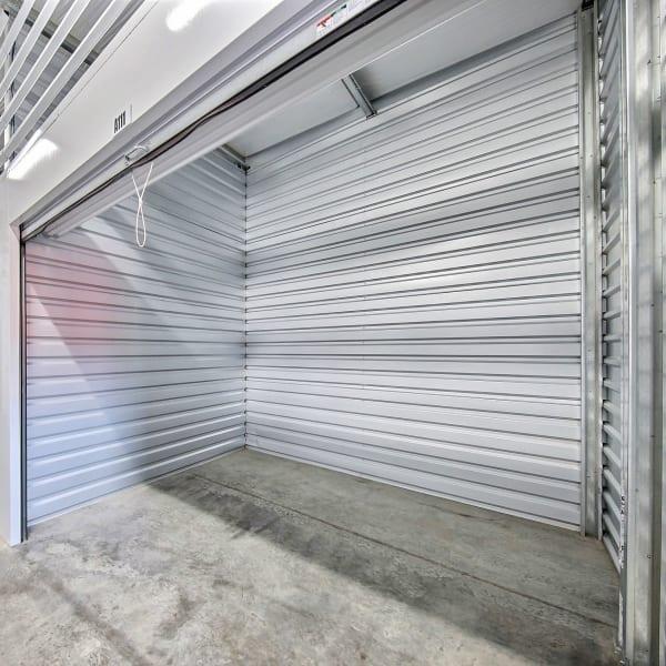 Interior of a storage unit at StorQuest Express Self Service Storage in Phoenix, Arizona