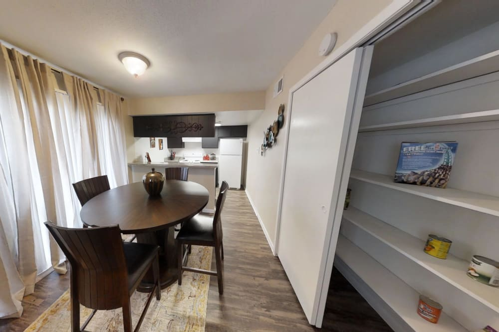 Our apartments in Humble, Texas showcase a luxury dining room