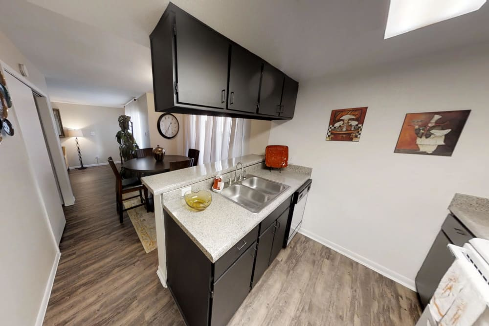 Kitchen at Waterchase Apartments in Humble, Texas