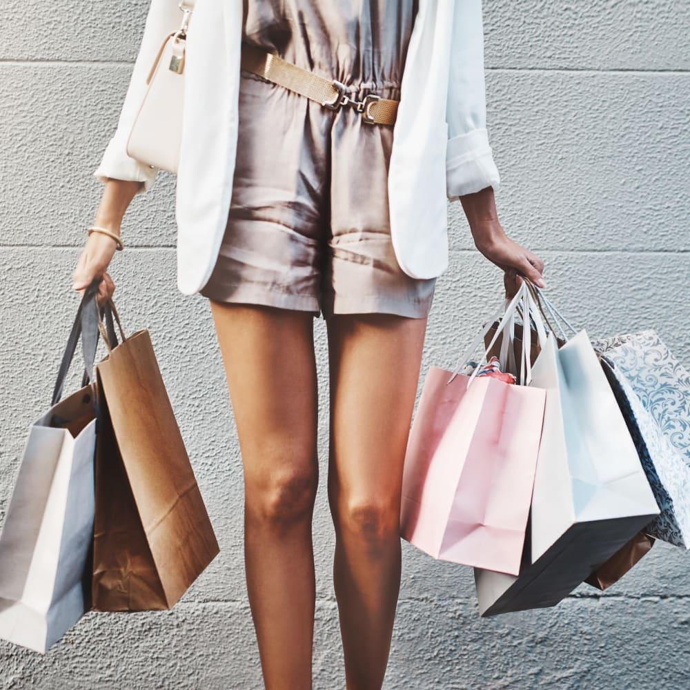 A successful shopper returning home in Austin, Texas