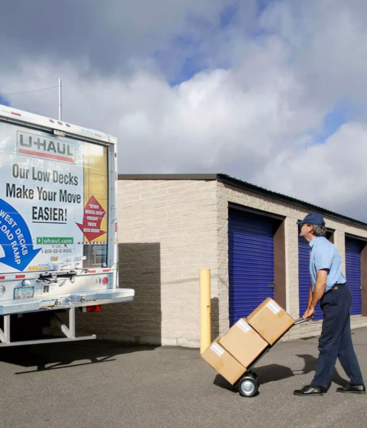 Midgard Self Storage in Melbourne, Florida, has moving trucks for rent