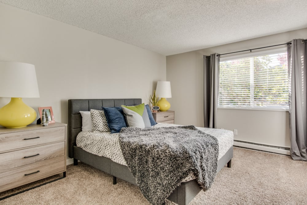 Bedroom at Copperstone Apartment Homes in Everett, WA
