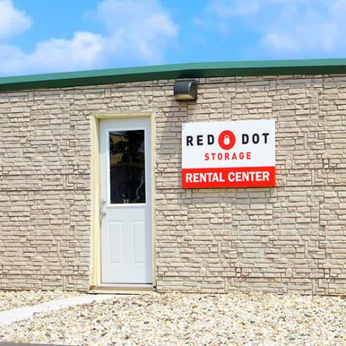 Rental center at Red Dot Storage in Sturtevant, Wisconsin