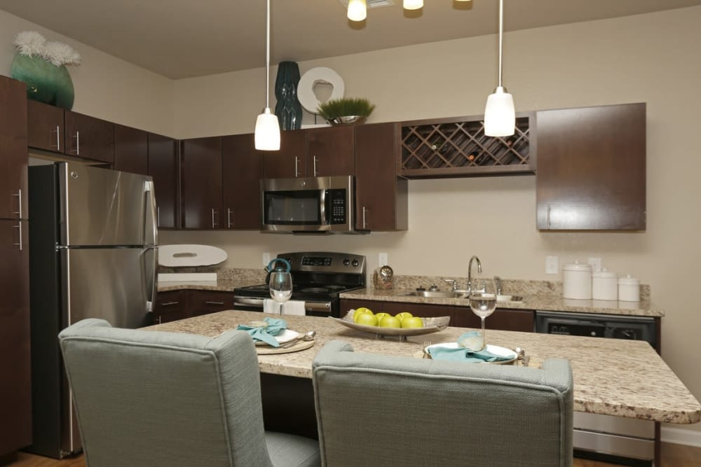 Modern kitchen at Springs at Laurens Road in Greenville