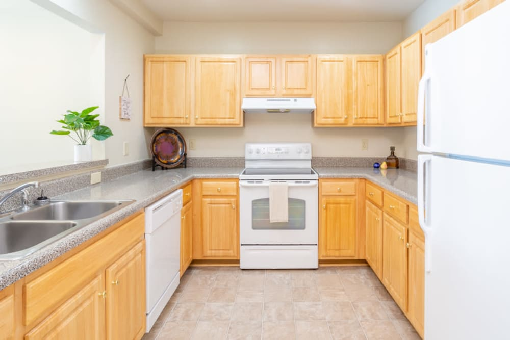 Apartment kitchen at The Harmony Collection at Roanoke - Independent Living in Roanoke, Virginia