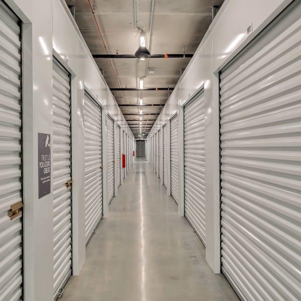 Indoor storage units at StorQuest Self Storage in Hawthorne, California