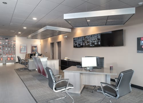 The main office interior at StorQuest Self Storage in Vista, California