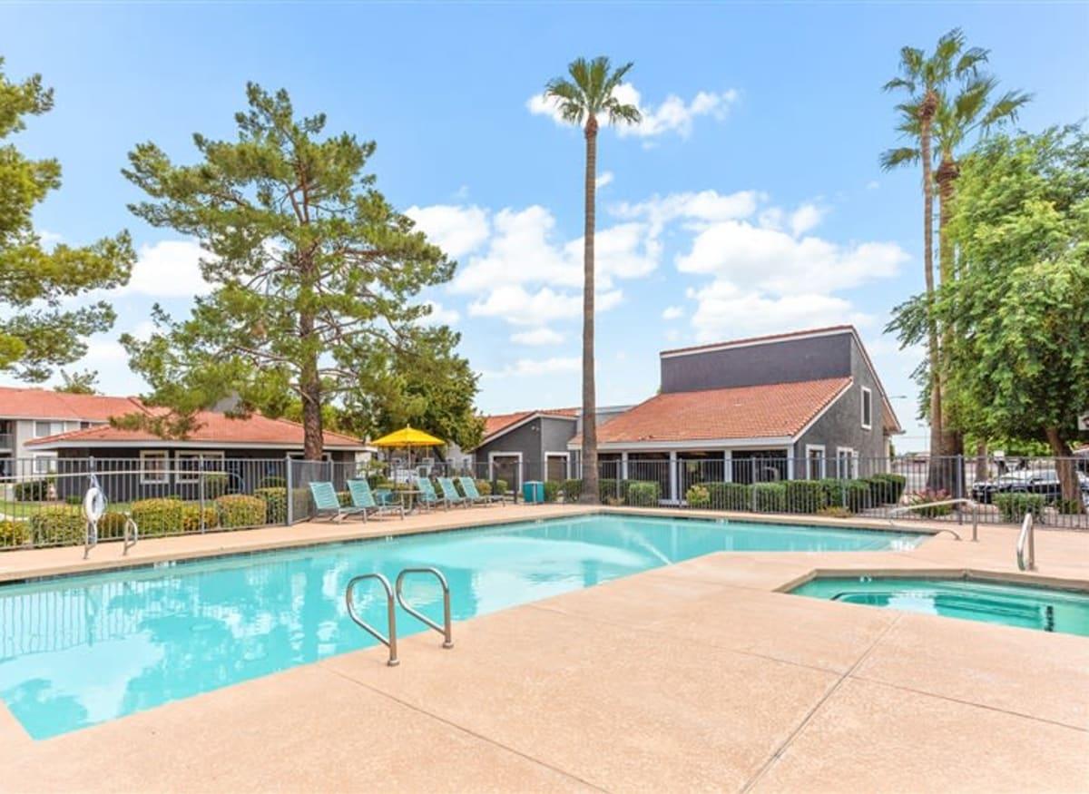 Sparkling pool at Argenta Apartments in Mesa, Arizona