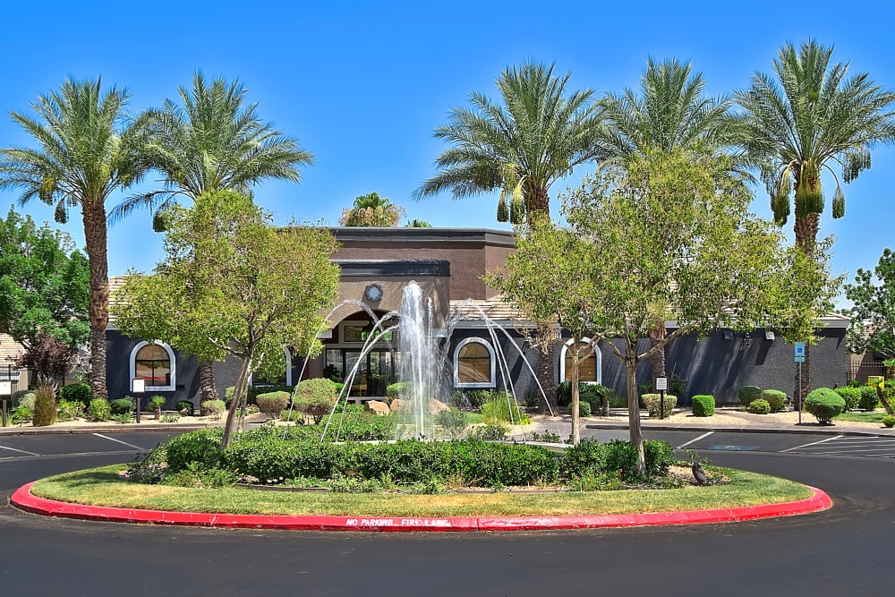 Exterior Fountain at Cielo Apartment Homes in Henderson, Nevada
