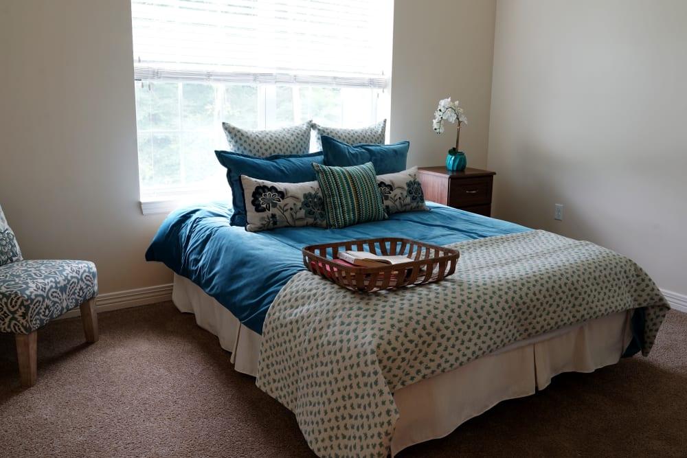 A bedroom at Harmony at Morgantown in Morgantown, West Virginia