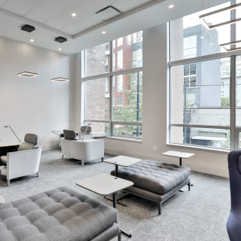 Resident Lounge / Business Area at Metropolitan Towers in Vancouver, BC