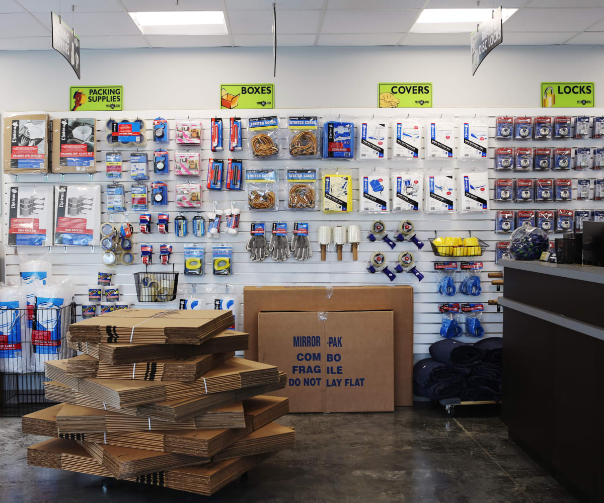 Midgard Self Storage in Little River, South Carolina, has an onsite moving and packing supply store
