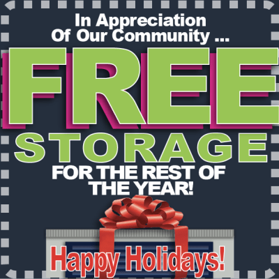 Holiday special at Midgard Self Storage in Roswell, GA