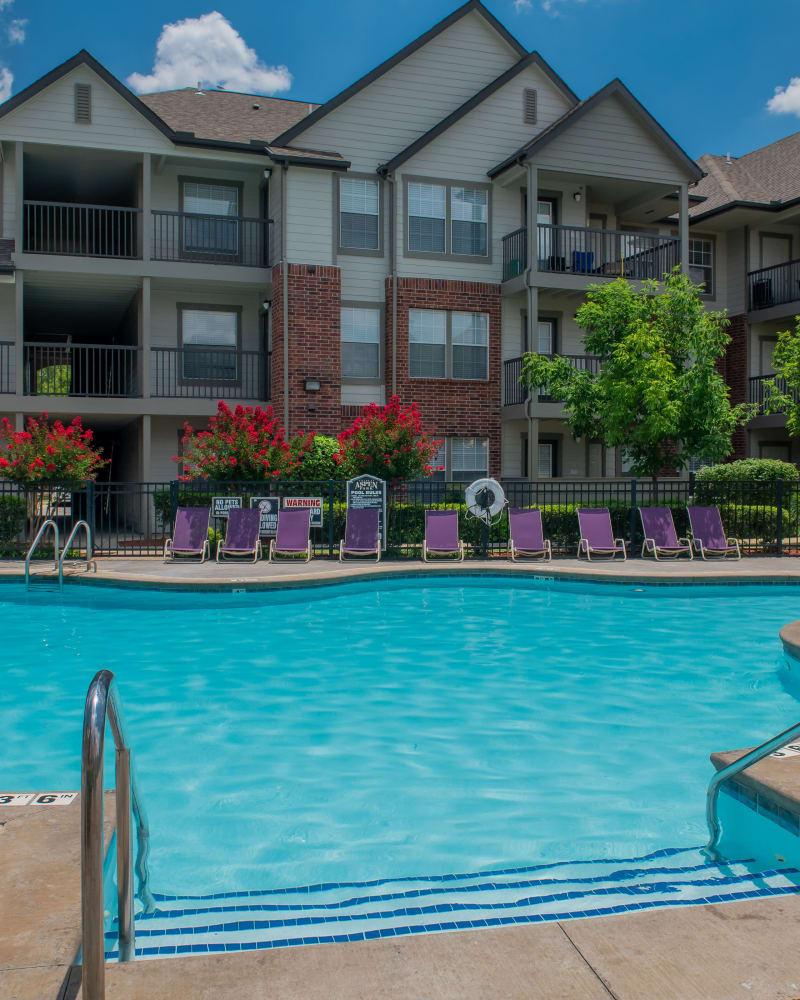 Resort style pool at Villas at Aspen Park in Broken Arrow, Oklahoma