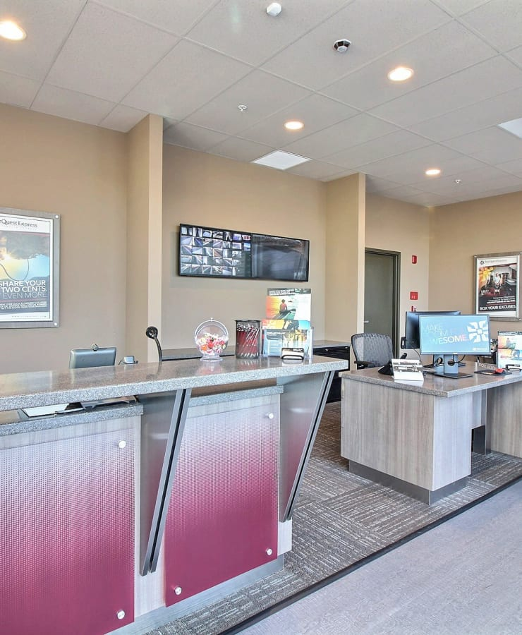 Interior of the office at StorQuest Express - Self Service Storage in Woodland, California