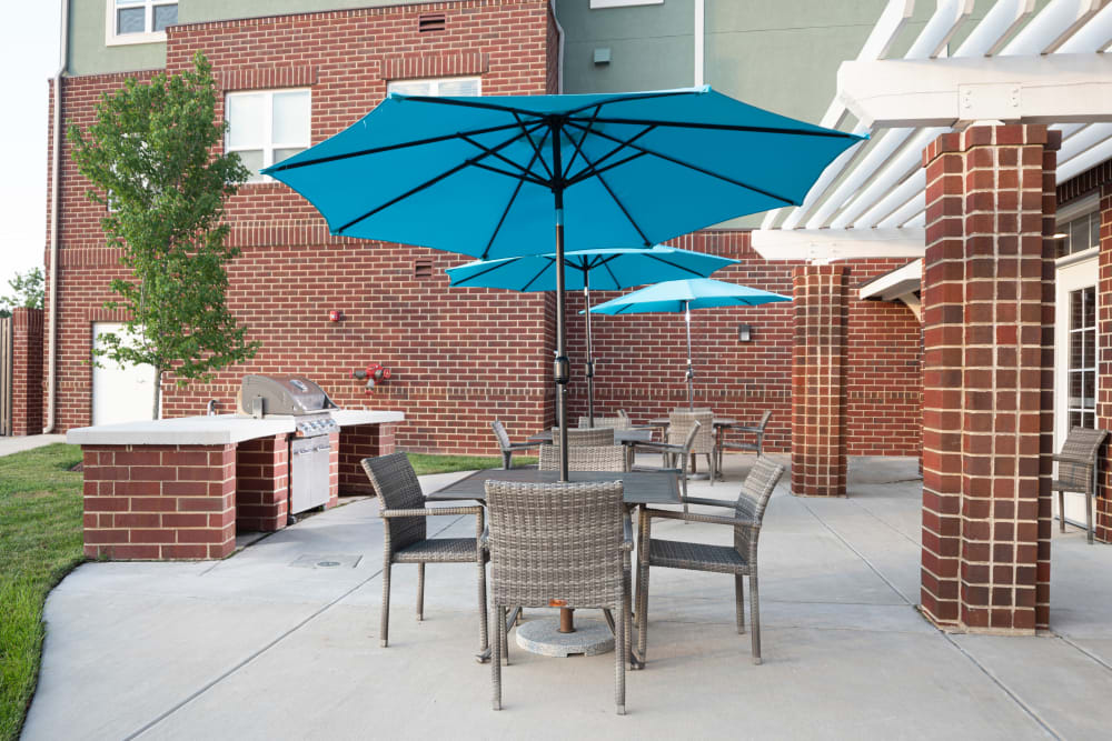 Patio at Harmony at Spring Hill in Lorton, Virginia