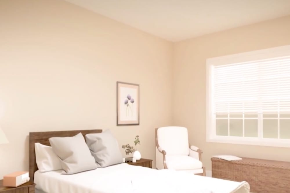 A rendering of a bedroom at Harmony at Hope Mills in Fayetteville, North Carolina