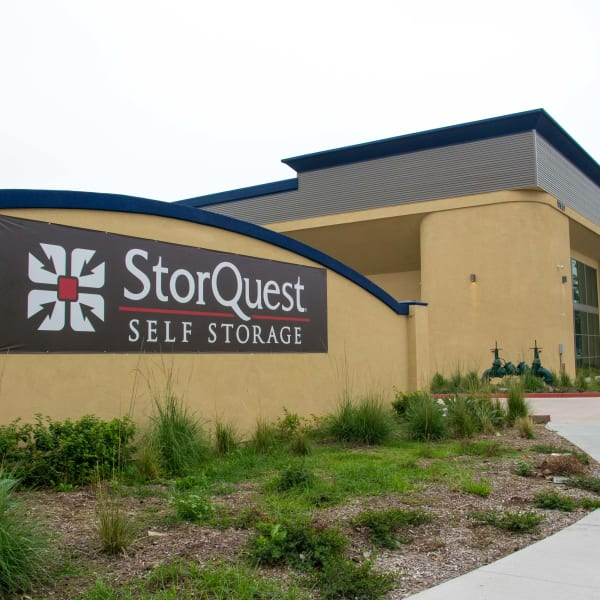 Facility sign at StorQuest Self Storage in Cerritos, California