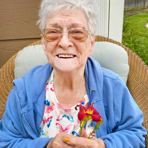 Resident at The Oxford Grand Assisted Living & Memory Care in Wichita, Kansas
