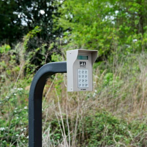 Secure entry keypad at Red Dot Storage in Denham Springs, Louisiana