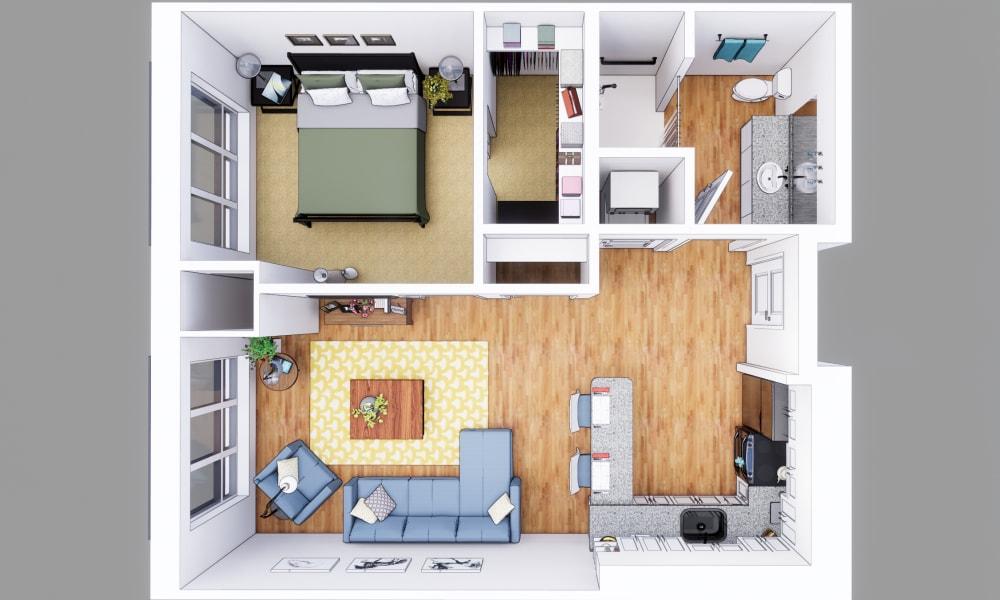 1 Bedroom apartment at Merrill Gardens at Columbia in Columbia, South Carolina.