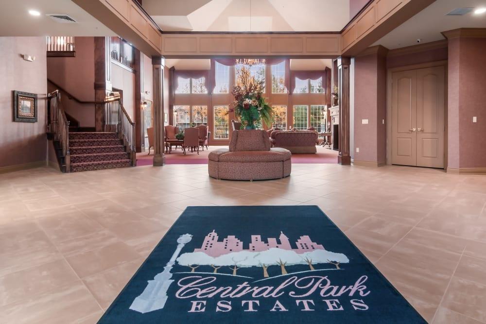 Front entrance at Central Park Estates in Novi, Michigan