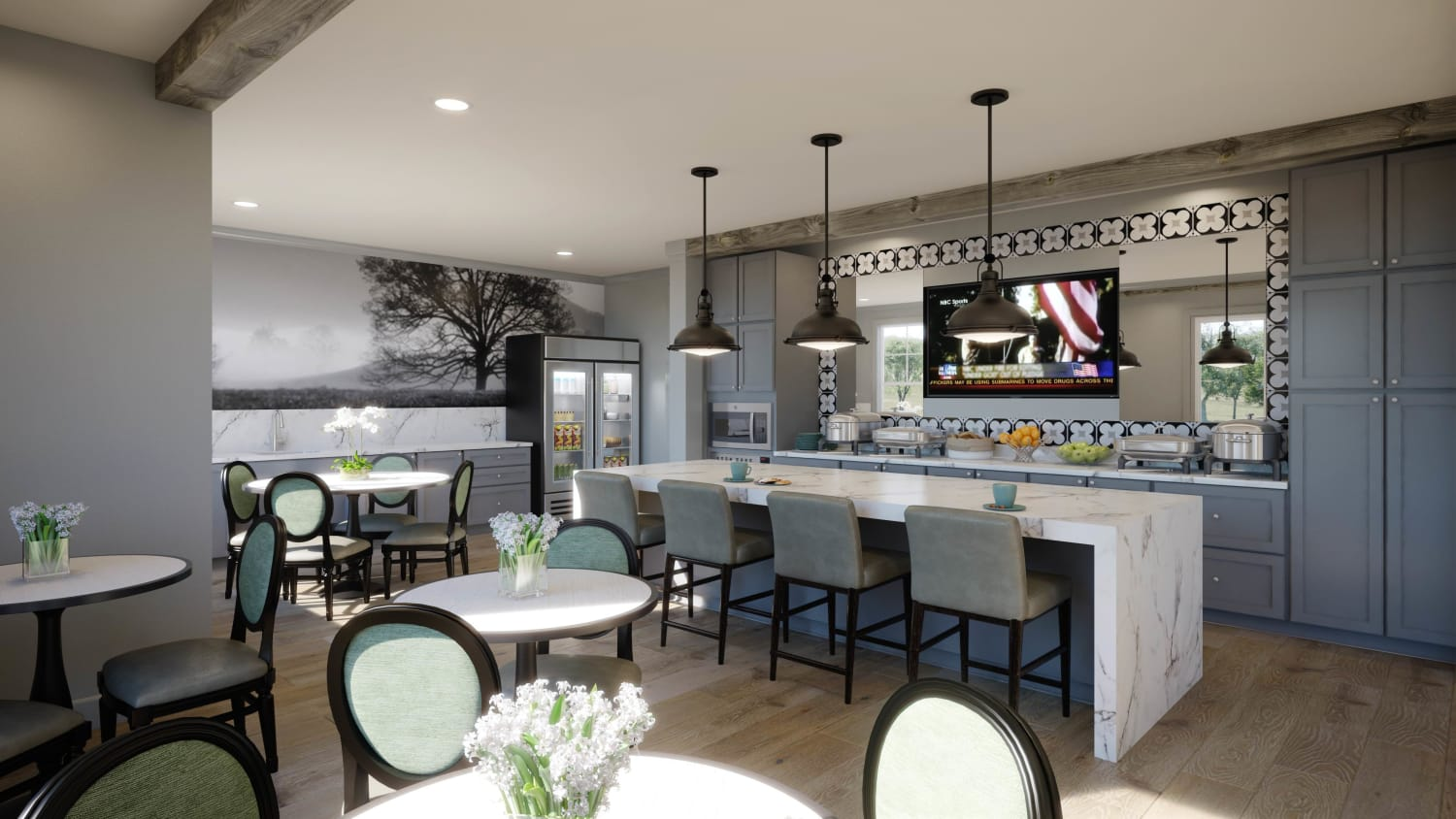 Rendering of Bistro at Avenida Cool Springs senior living apartments in Franklin, Tennessee
