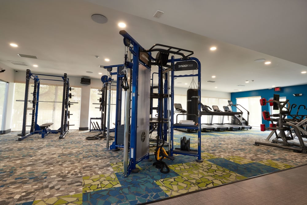 Plenty of room and free weights at Aliro in North Miami, Florida