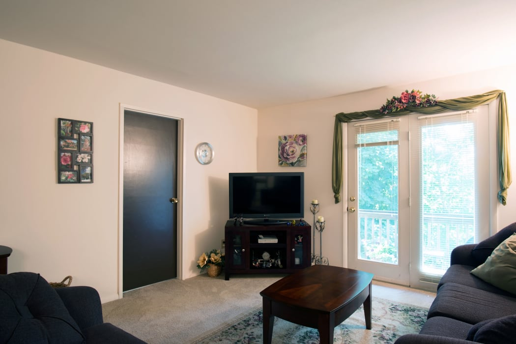 Living room at Mill Creek Apartments in East Greenbush
