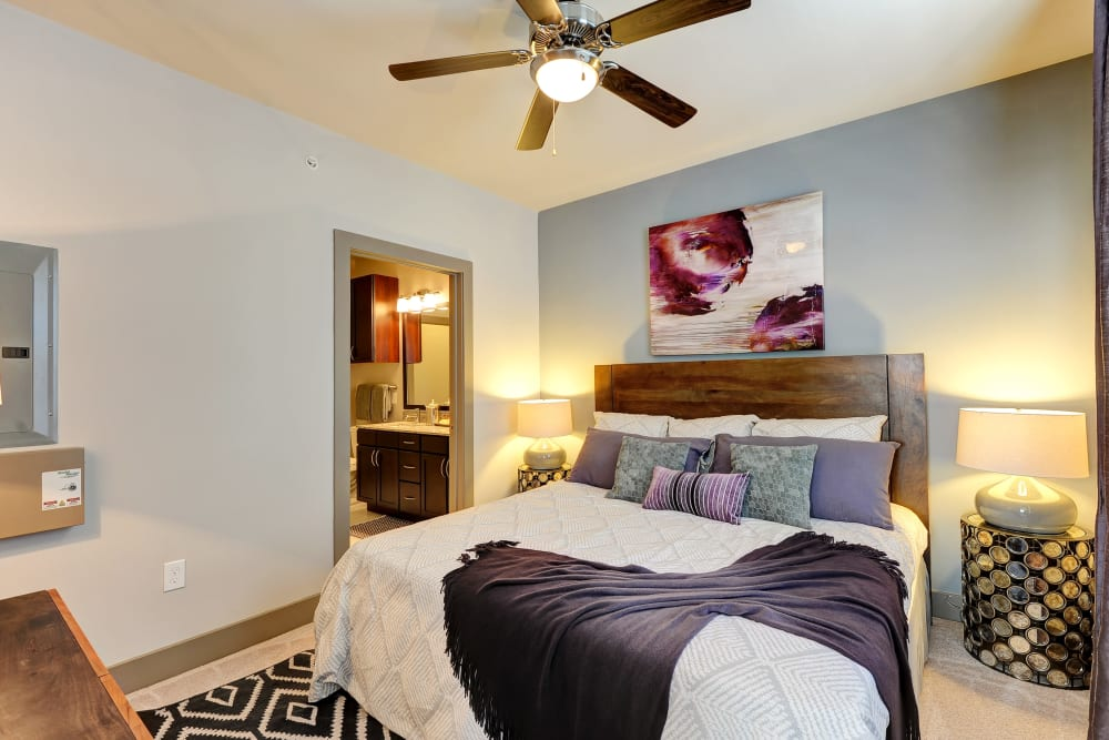 Spacious bedroom at The Mark at Brickyard Apartment Homes in Beltsville, Maryland