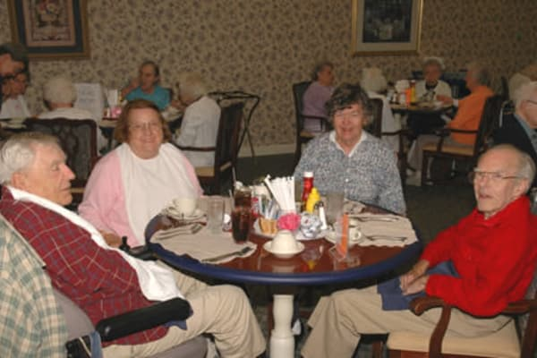 Dining area at the senior facility at Chestnut Knoll in Boyertown, Pennsylvania