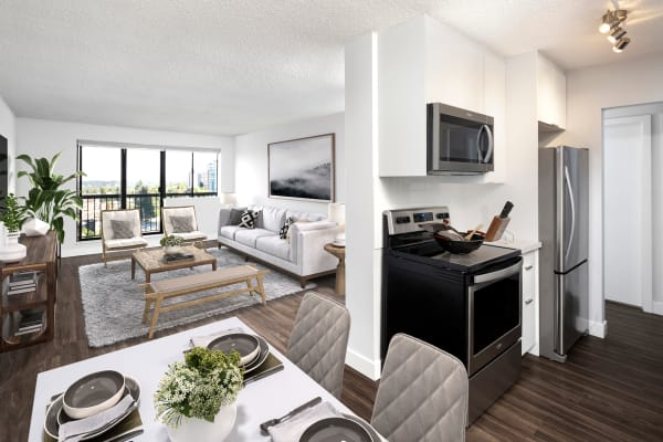 Panarama Tower in Burnaby, BC offers apartments with hardwood floors
