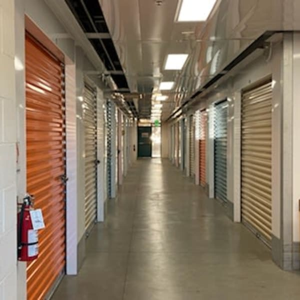 Climate-controlled indoor units at StorQuest Self Storage in San Leandro, California